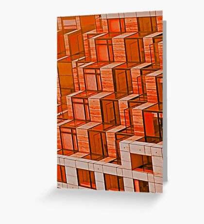 Orange Architecture Abstract - iPhone Case Greeting Card