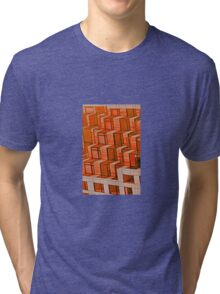 Orange Architecture Abstract - iPhone Case Tri-blend T-Shirt