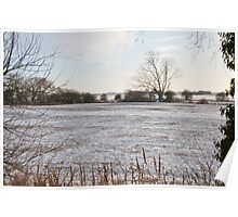 Snow on the fenland Poster