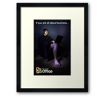 All About Business. Framed Print