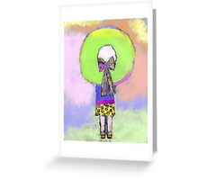 Girl in the Big Hat Greeting Card