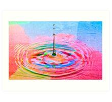 Colorful waterdrop Art Print