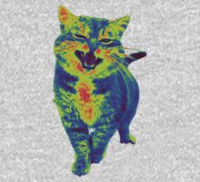 Psychedelic Cat One Piece - Long Sleeve