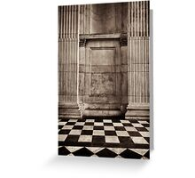 columns chequered floor saint paul's Greeting Card