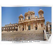 cattedrale di noto Poster