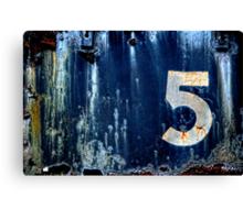 #5 Canvas Print