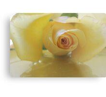 Burst of Sunshine ~ Yellow Rose Metal Print