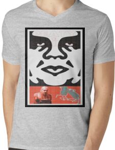 Obey The Band Mens V-Neck T-Shirt