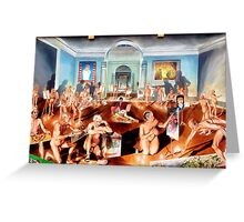 The School of Postmodernism by Vittorio Pelosi Greeting Card