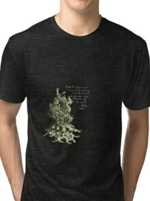 Space plant with space quote Tri-blend T-Shirt