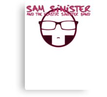Plastic Sinister Band Logo (Red) Canvas Print