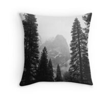 Cathedral Spires, Winter Storm, Yosemite Valley, California Throw Pillow
