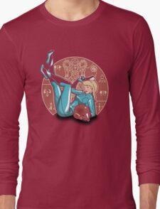 Power-up Pin-up- Metroid Shirt Long Sleeve T-Shirt