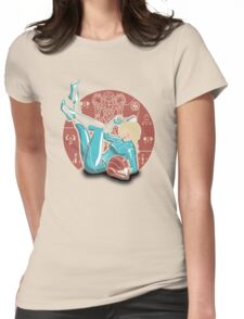 Power-up Pin-up- Metroid Shirt Womens Fitted T-Shirt