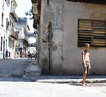 Kids play in a Havana back street by Phil Bower