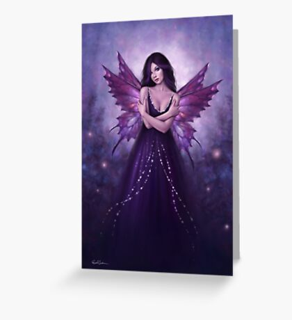 Mirabella Purple Butterfly Fairy Greeting Card