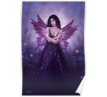 Mirabella Purple Butterfly Fairy Poster