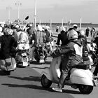 Mods ready for a rideout in Brighton. by Phil Bower