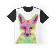 Psychedelic Fox Graphic T-Shirt