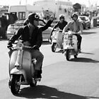 Mod drive by in Brighton. by Phil Bower
