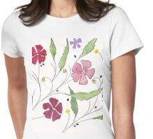 Summer Cosmos Womens Fitted T-Shirt