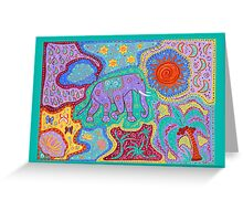 Elephant Dreamtime Greeting Card
