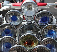 Union Jack helmet and Lambretta lights. by Phil Bower