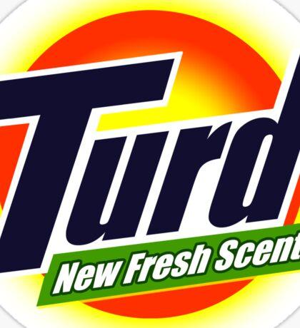 Turd New Fresh Scent Funny Advert Sticker