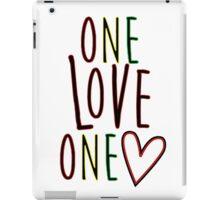 One Love One Heart iPad Case/Skin