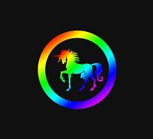 Unicorn In Rainbow With Black Circles Unisex T-Shirt
