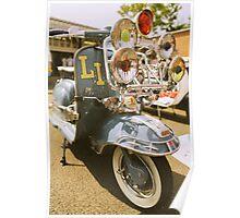 Lambretta LI retro look. Poster
