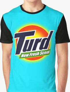 Turd New Fresh Scent Funny Advert Graphic T-Shirt
