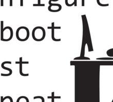 Configure Reboot Test Repeat Sticker