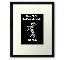 Black Metal Beer Framed Print