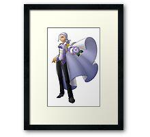 Yolanda, Purple Duelist Framed Print