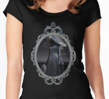 The Visit - Gothic Ghost Art Women's Fitted Scoop T-Shirt