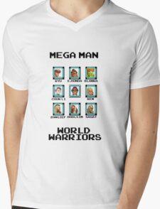 Mega Man - World Warriors Mens V-Neck T-Shirt