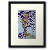 Ugly woman Framed Print