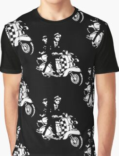Ska Couple on Scooter Graphic T-Shirt