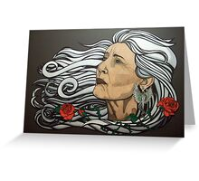 The Queen of Swords Greeting Card