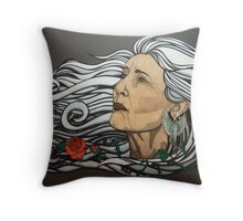 The Queen of Swords Throw Pillow