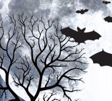 Creepy nocturnal landscape Sticker