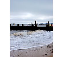 A Vision Of Groynes! Photographic Print
