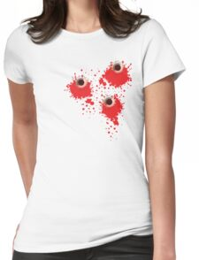 Bullet holes Womens Fitted T-Shirt