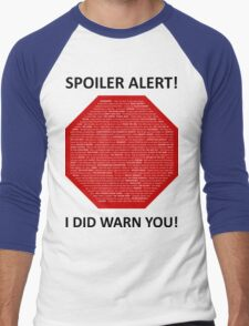 Spoiler Alert! Men's Baseball ¾ T-Shirt