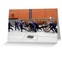Charge, true grit and discipline from a Winning Team. Greeting Card