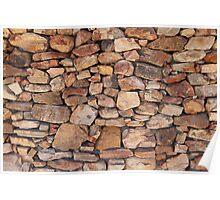 Wall of Karoo rocks, Western Cape, SA Poster