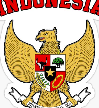 Indonesia Coat of Arms Sticker