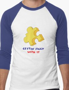 Gettin' Jiggy With It Men's Baseball ¾ T-Shirt