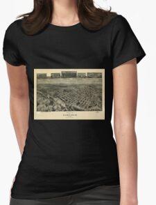 Panoramic Maps Birds eye view of Garfield New Jersey 1909 T-Shirt